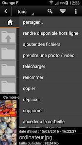 screenshot of Le Cloud d'Orange version 7.0.3