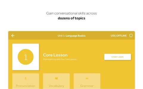 screenshot of Rosetta Stone: Learn to Speak & Read New Languages version 5.7.1