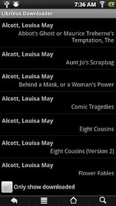 screenshot of LibriVox Downloader version 1.10