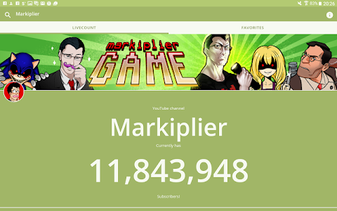 screenshot of Live Subscriber Counter version 1.1.0