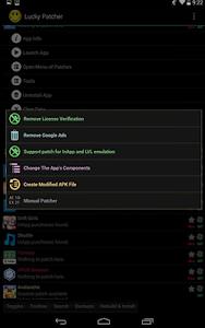 screenshot of Lucky Patcher & KingRoot & Game Guardian version patcher