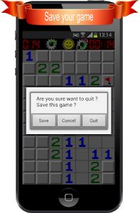 screenshot of Minesweeper version 1.7.1