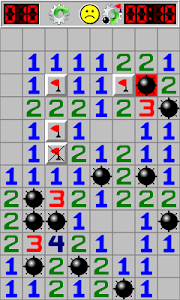 screenshot of Minesweeper version 1.4.8