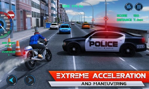 screenshot of Moto Traffic Race version 1.19