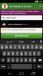 screenshot of MyChart version 4.4