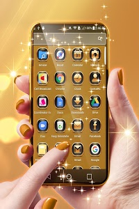 Download Neon Gold Theme For Launcher 1.264.1.141 APK