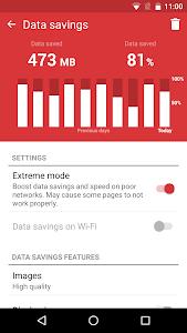 screenshot of Opera Mini browser beta version Varies with device