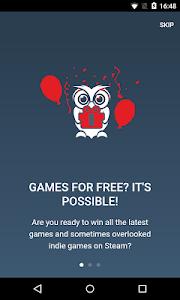 screenshot of Orlygift Get FREE Steam Games! version 1.0.6