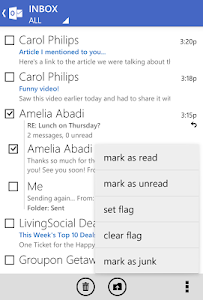screenshot of Outlook.com version 7.8.2.12.49.9774