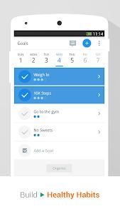 screenshot of Pedometer & Weight Loss Coach version p2.13.0