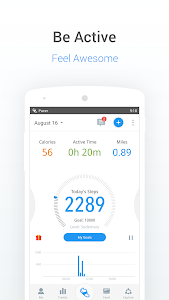 screenshot of Pedometer, Step Counter & Weight Loss Tracker App version p5.9.1