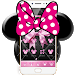 Download Pink Black Minny Bowknot Theme 1.1.11 APK