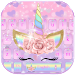 Download Pink Flower Unicorn Keyboard Theme 10001003 APK