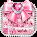 Download Pink bow diamond keyboard 10001003 APK