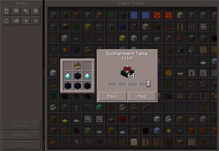 screenshot of Pocket Manager Mod Minecraft version 1.4