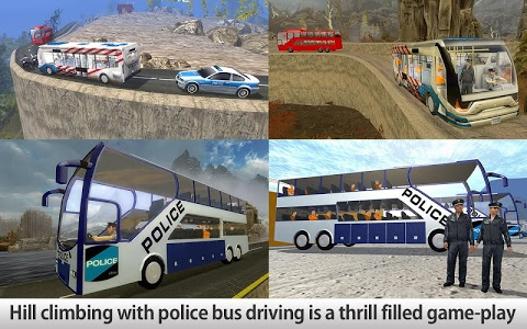 screenshot of Police Bus Hill Climb Driver version 1.2
