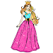 Princess Glitter Color by Number - Girls Coloring
