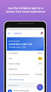 screenshot of Schiphol Amsterdam Airport version 7.3.4