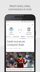 screenshot of Sky Sports Live Football Score Centre version 5.9.2