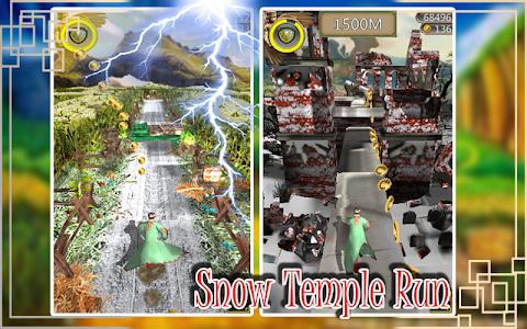 screenshot of Snow Temple Run version 2.8