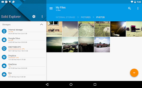 screenshot of Solid Explorer File Manager version 2.1.15