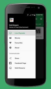 screenshot of Solid Streamz version 1.0