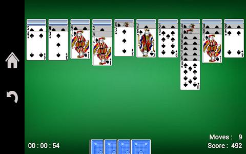 screenshot of Spider Solitaire version 1.03