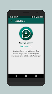 screenshot of Status Saver version 1.4