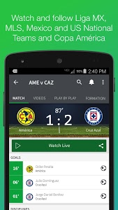 screenshot of Univision Deportes version 10.1.6