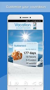 screenshot of Vacation Countdown App version 2.531