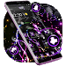 Download Violet Neon Black Flower Theme 1.1.1 APK