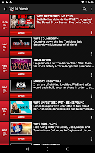screenshot of WWE version 3.12.1