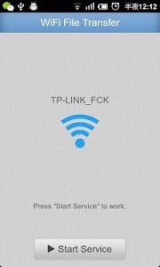 screenshot of WiFi File Transfer version 4.1