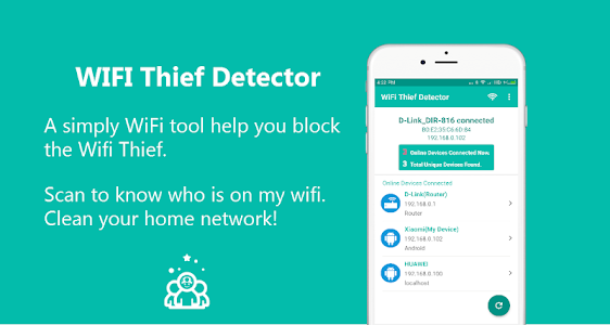 Download WiFi Thief Detector - Who Use My WiFi? 1.1.2 APK
