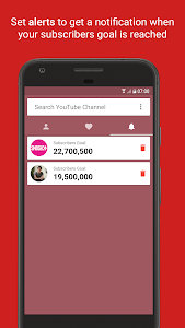 screenshot of Live YouTube Subscriber Count version 1.2.6