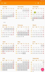screenshot of aCalendar - Android Calendar version Varies with device