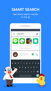 screenshot of LINE Launcher version 2.4.25