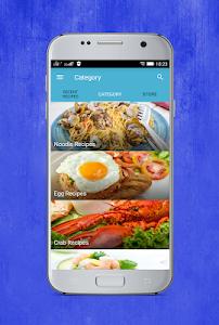 screenshot of filipino recipes version 1.3.5