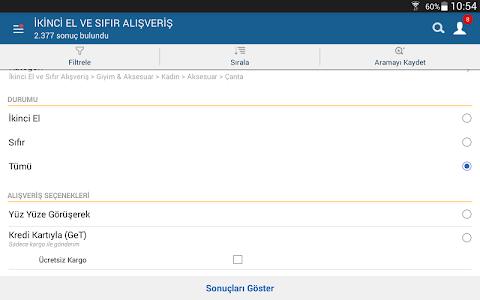 screenshot of sahibinden.com version 3.25.2