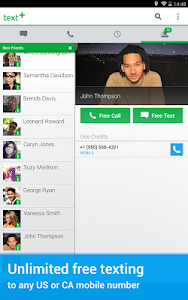 screenshot of textPlus Free Text + Calls version 5.9.9