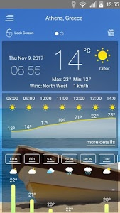 screenshot of weather version 46